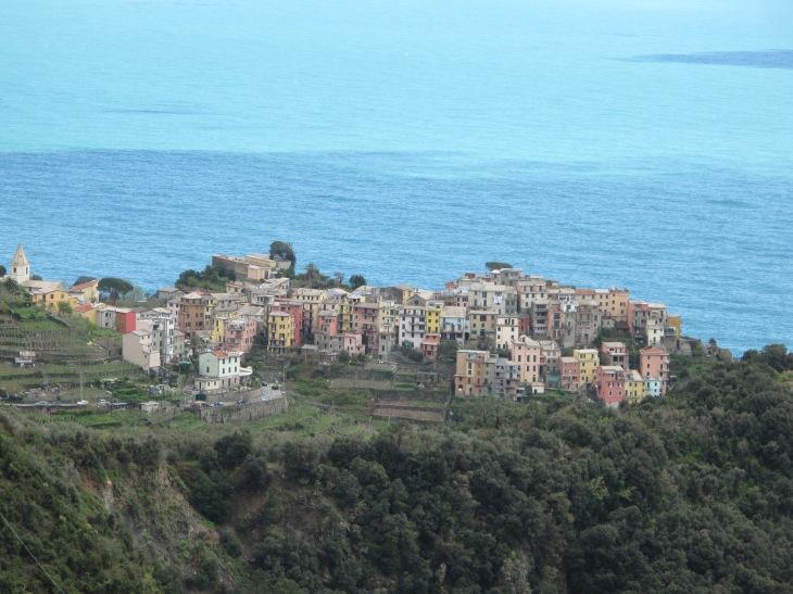 Cornigilia from the scenic drive