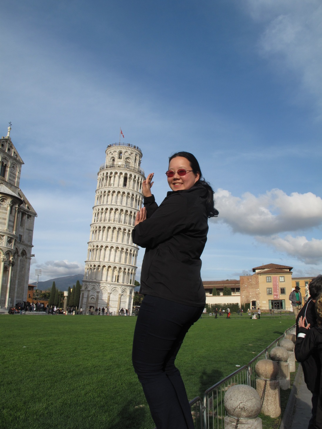 Holding the leaning tower up