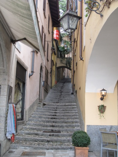 Steep staircases in Bellagio