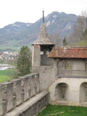 Guyeres town walls